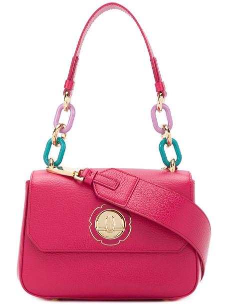Salvatore Ferragamo women embellished bag shoulder bag leather purple pink