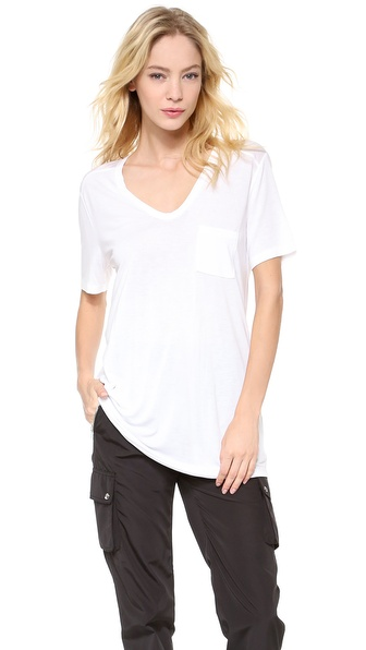 T by Alexander Wang Classic T Shirt with Pocket | SHOPBOP