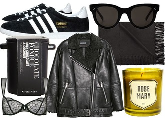jane's sneak peak blogger sunglasses underwear adidas shoes shearling jacket candle holiday gift food scarf jacket