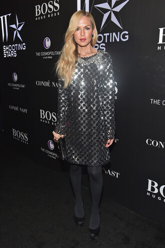 rachel zoe pumps marc jacobs brian atwood glitter dress silver