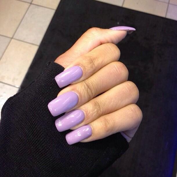 Nail polish: purple, baby purple, nails, nail, finger ...