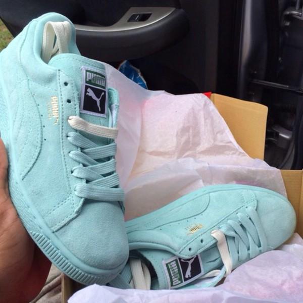 Buy light blue puma shoes,puma suede classic fluo peach
