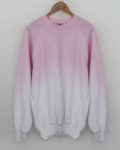 sweater,tie dye,pink,white