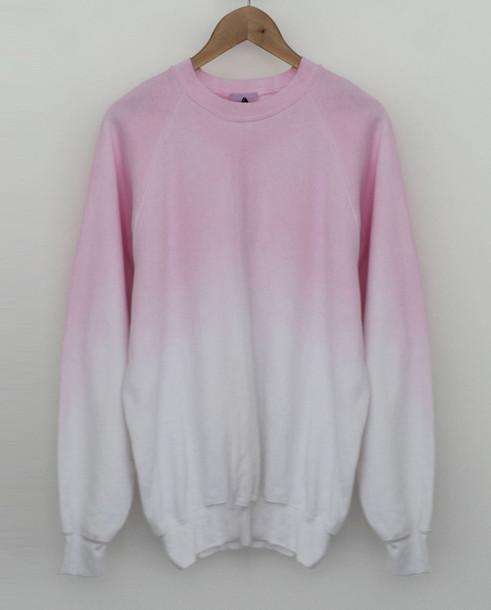 sweater tie dye pink white