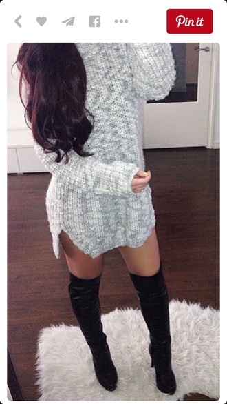 sweater tshirt dress dress fall sweater winter sweater long sleeves long sleeve dress