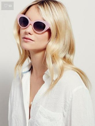 sunglasses pastel pink pink sunglasses cat eye