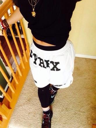 shorts pyrex white