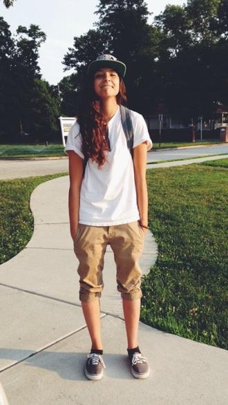 pants khaki shorts