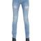 Mid-rise destroyed cotton denim jeans