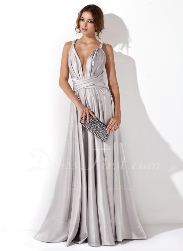 prom dress silver dress