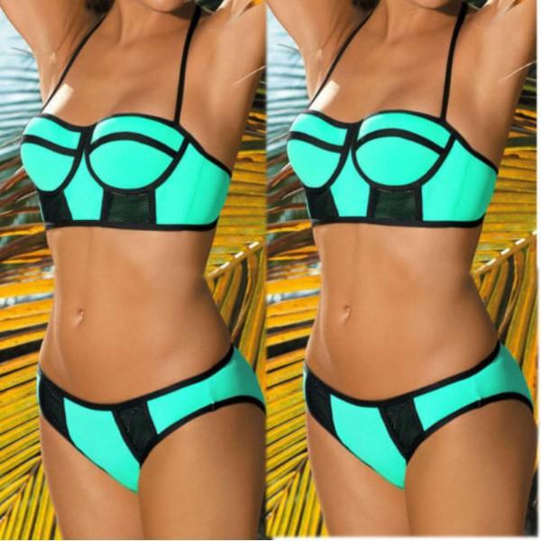 swimwear neon green swimwear