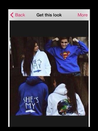 sweater couple superman universe