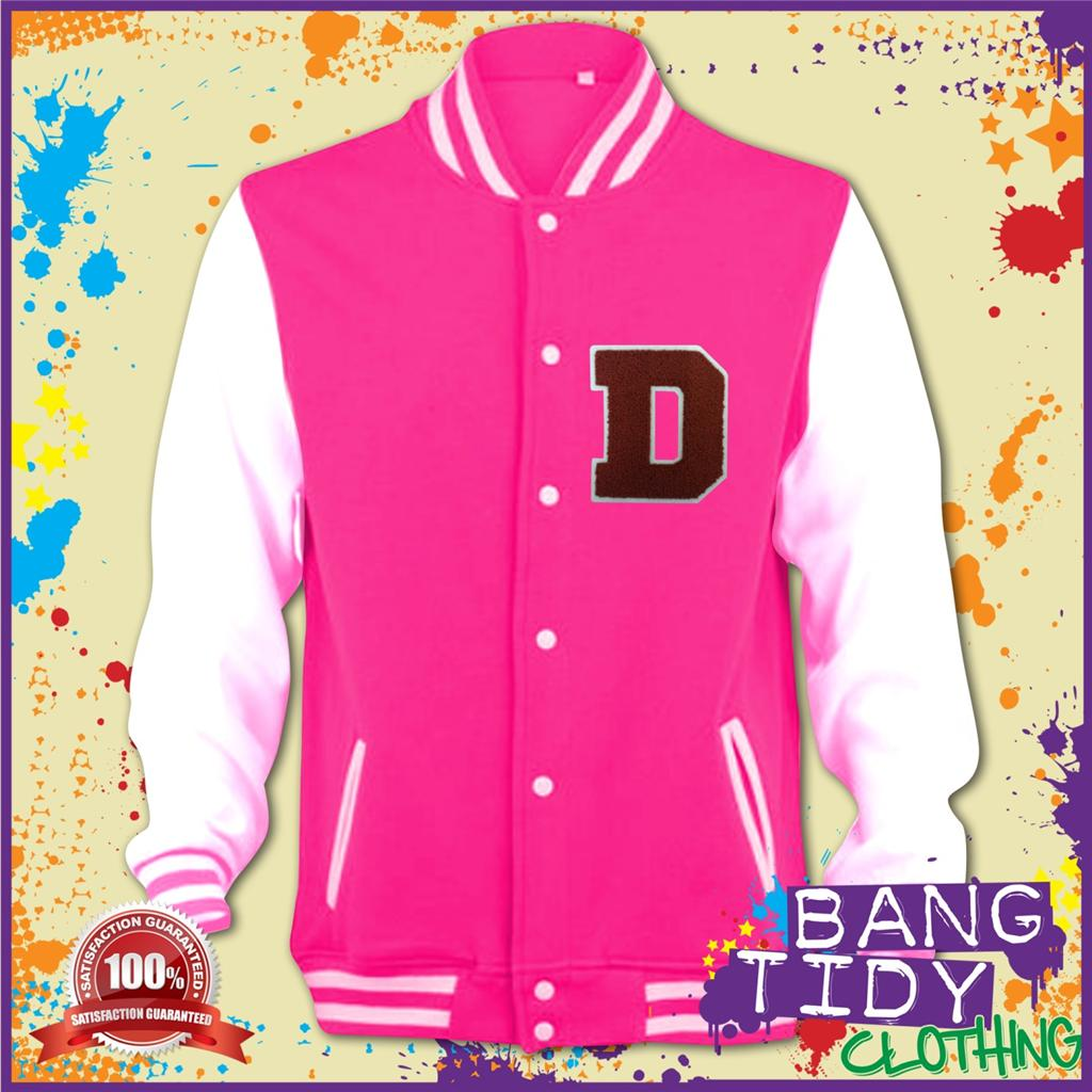 **CHOOSE YOUR LETTER** Mens Varsity Jacket Original Raised Stiched Letters | eBay