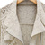 Beige Long Sleeve Hollow Lace Crop Outerwear - Sheinside.com