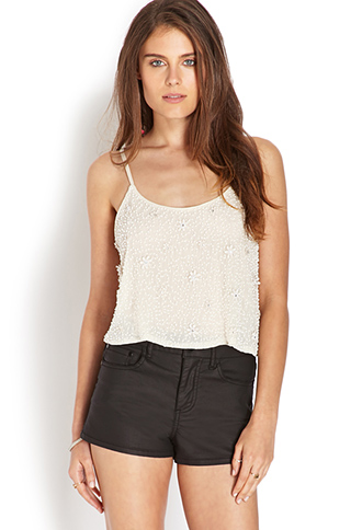 Beaded Floral Crop Top | FOREVER 21 - 2000071843