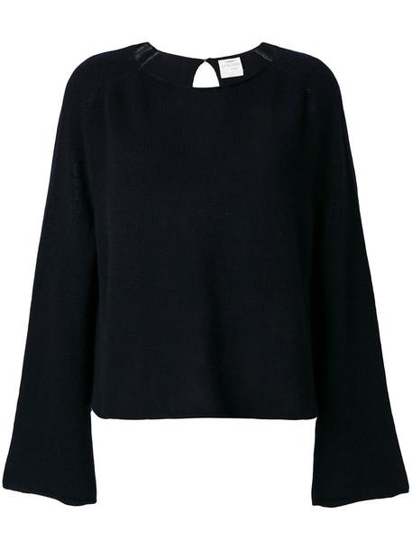 Forte Forte - back keyhole jumper - women - Cashmere - III, Black, Cashmere