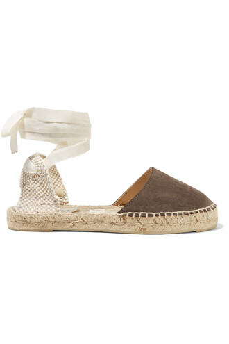 espadrilles suede brown shoes