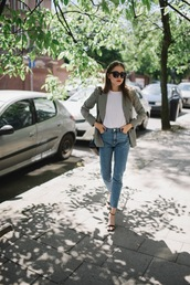 jestem kasia,blogger,jacket,jeans,t-shirt,bag,shoes