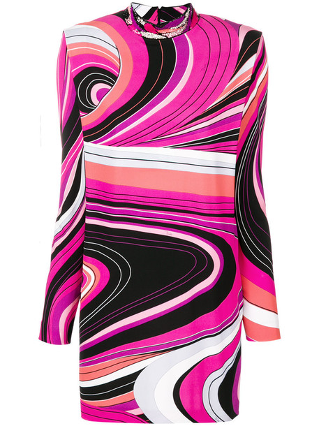 Emilio Pucci dress mini dress mini women spandex purple pink