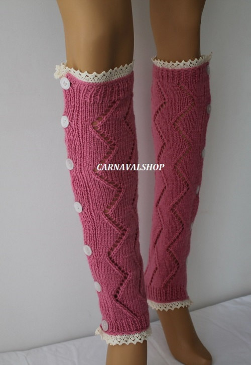 Hand knit leg warmers lace and button socks boot topper fashion accessories for him gift ideas