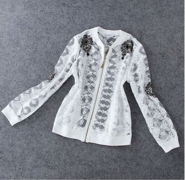 Aliexpress.com : Buy High quality New 2014 women girl winter autumn fashion elegant slim beading lace jacket thin designer outwear female coat from Reliable jacket wedding suppliers on