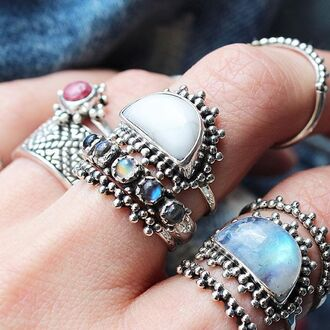 jewels shop dixi howlite sterling silver rings