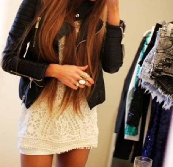 jacket t-shirt veste bijoux robe dress