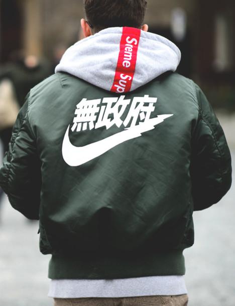 Jacket Nike Supreme Bomber Jacket Vintage Menswear