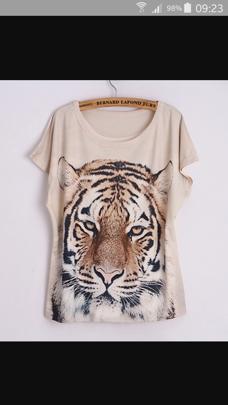 shirt brown tiger