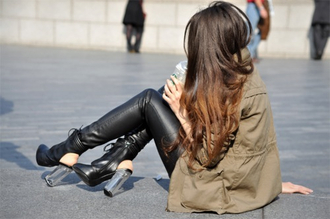 jacket wedges leather leggings shoes