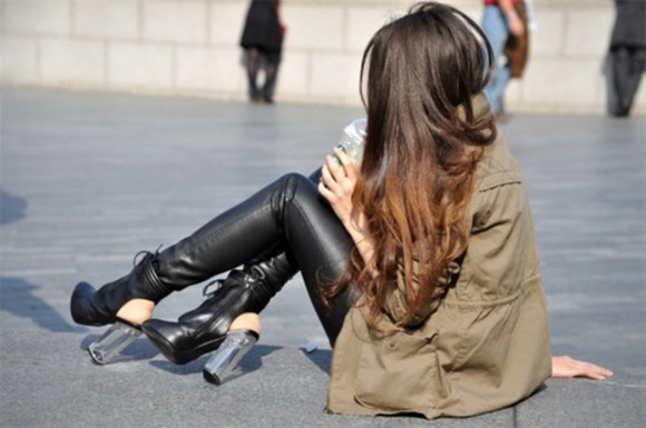 wedges jacket leather leggings