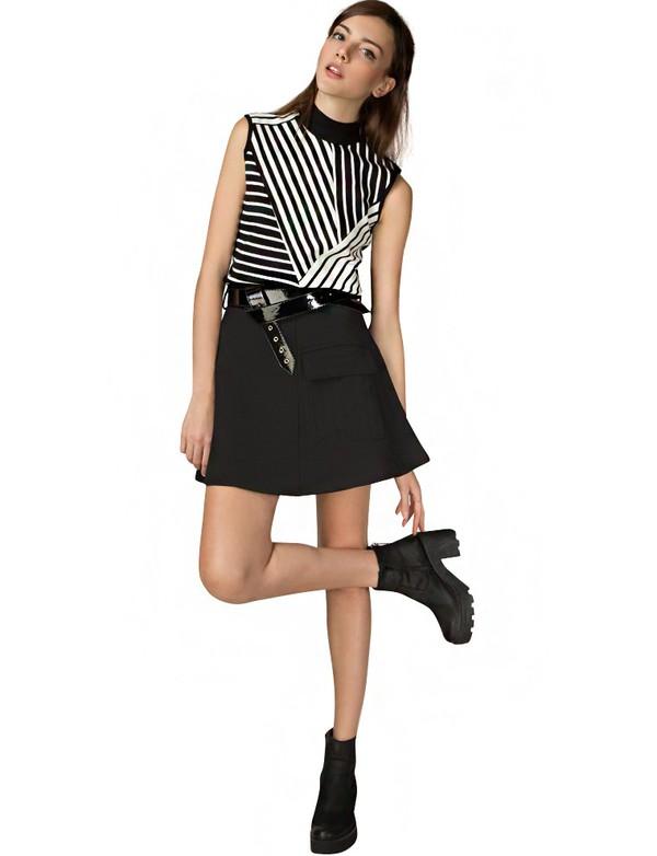 Skirt: a line skirt, mod skirt, belted a line skirt, belted skirt ...
