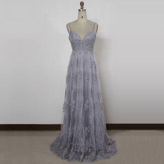 dress prom dress lace prom dress long prom dress v neck dress tulle dress open back dresses elegant dress girly dress cute dress