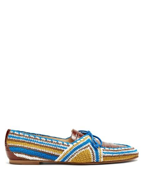Gabriela Hearst loafers leather blue shoes