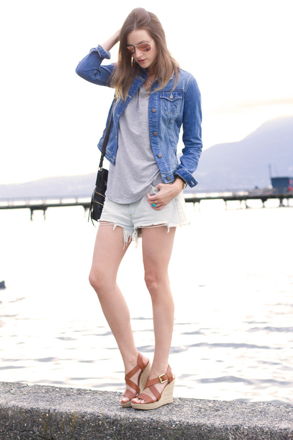 styling my life jacket top bag shoes jewels shorts