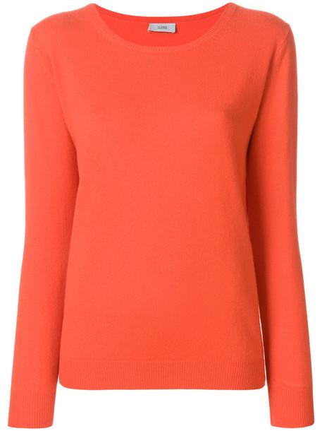 Closed sweater knitted sweater women yellow orange
