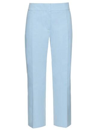 cropped cotton light blue light blue pants