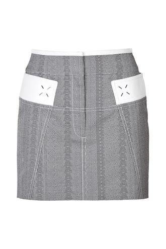 skirt high grey
