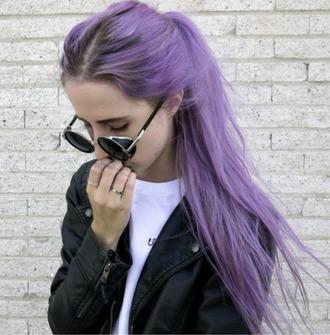 sunglasses sun glow sunglass purpel hipster hippie grunge style oldie vintage pastel hair jacket