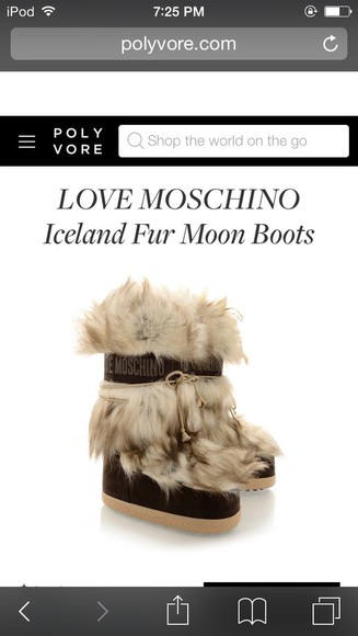 winter boots brown shoes boots furry boots moschino