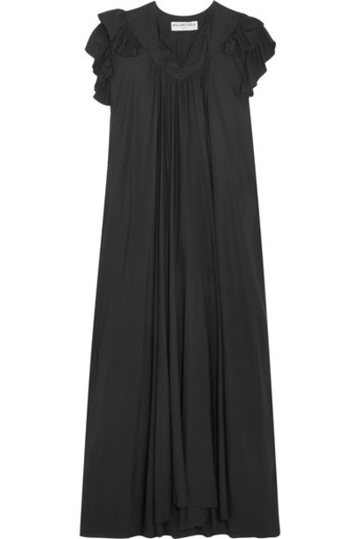 dress midi dress midi black silk