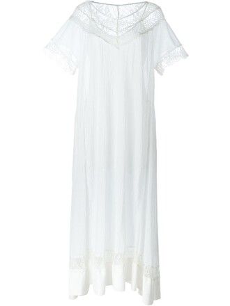 gown women lace white cotton crochet dress
