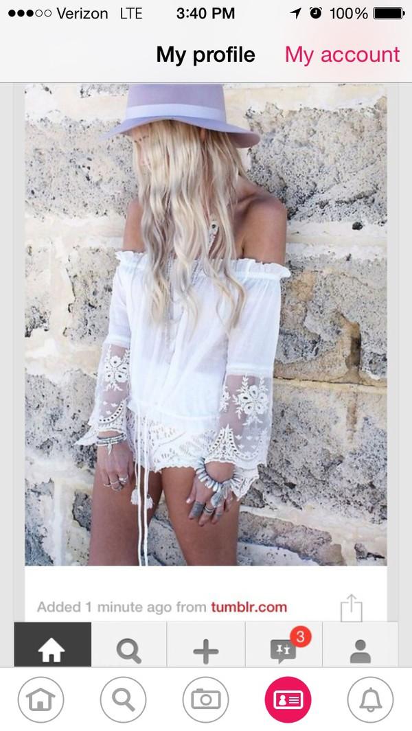 8d5caefd5525e top off shoulder white lace top boho chic hippie hippie chic.