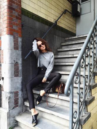 style scrapbook blogger pants sweater shoes bag belt