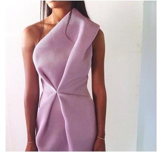 dress classy lilac dress asymmetrical