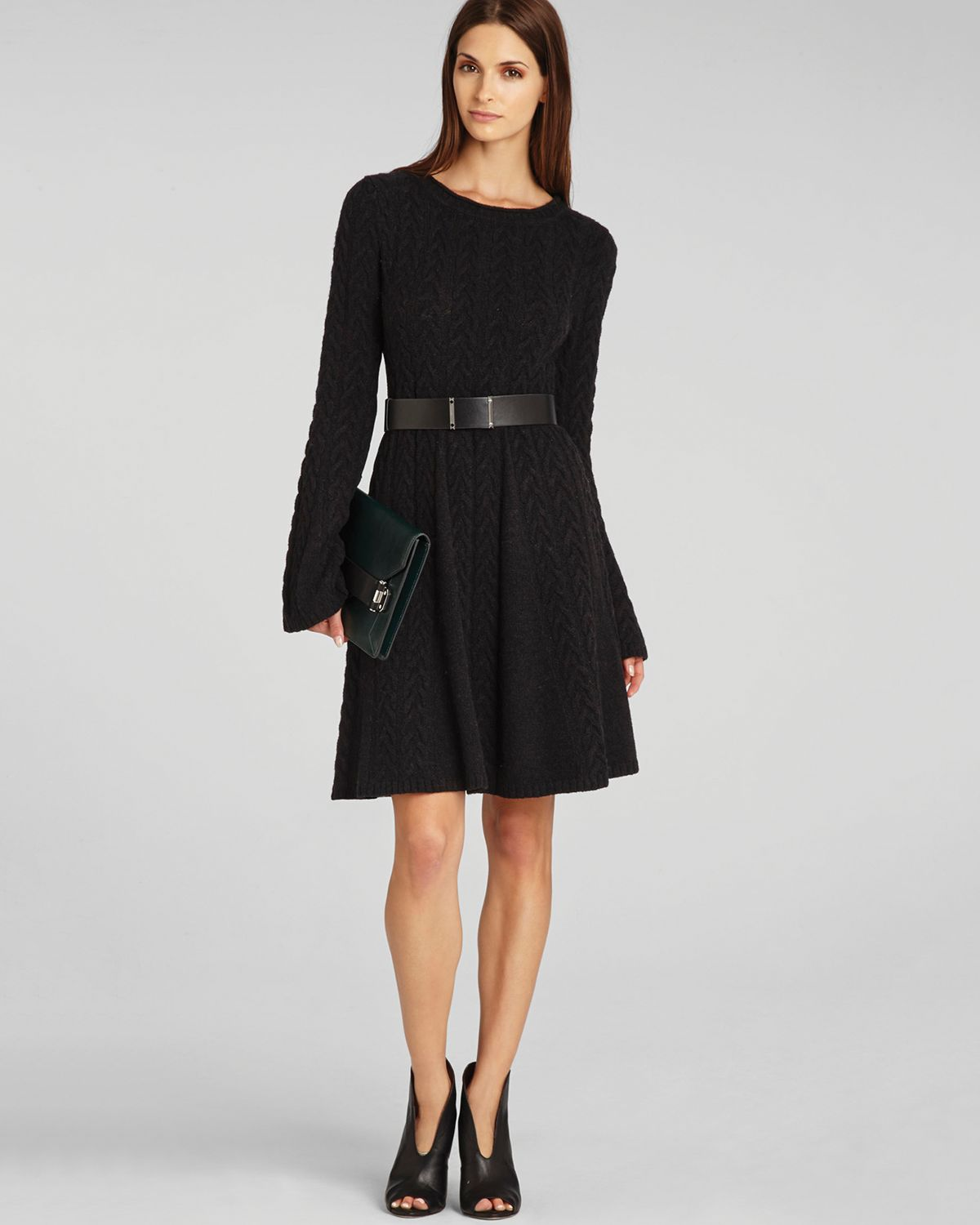 BCBGMAXAZRIA Sweater Dress - Hoshi Cabled | Bloomingdale's