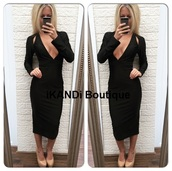 dress,black dress,midi,midi dress,black cutout,black cutout dress,side cutout dress,evening dress,glam dress,party dress,plunge v neck,plunge dress,v neck,v neck dress,long sleeves,long sleeve dress,sexy dress,trendy,fashion,ootd,cut-out,cut-out dress
