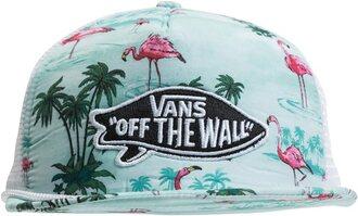 hat vans palm tree flamingo birds water summer surf summer sports