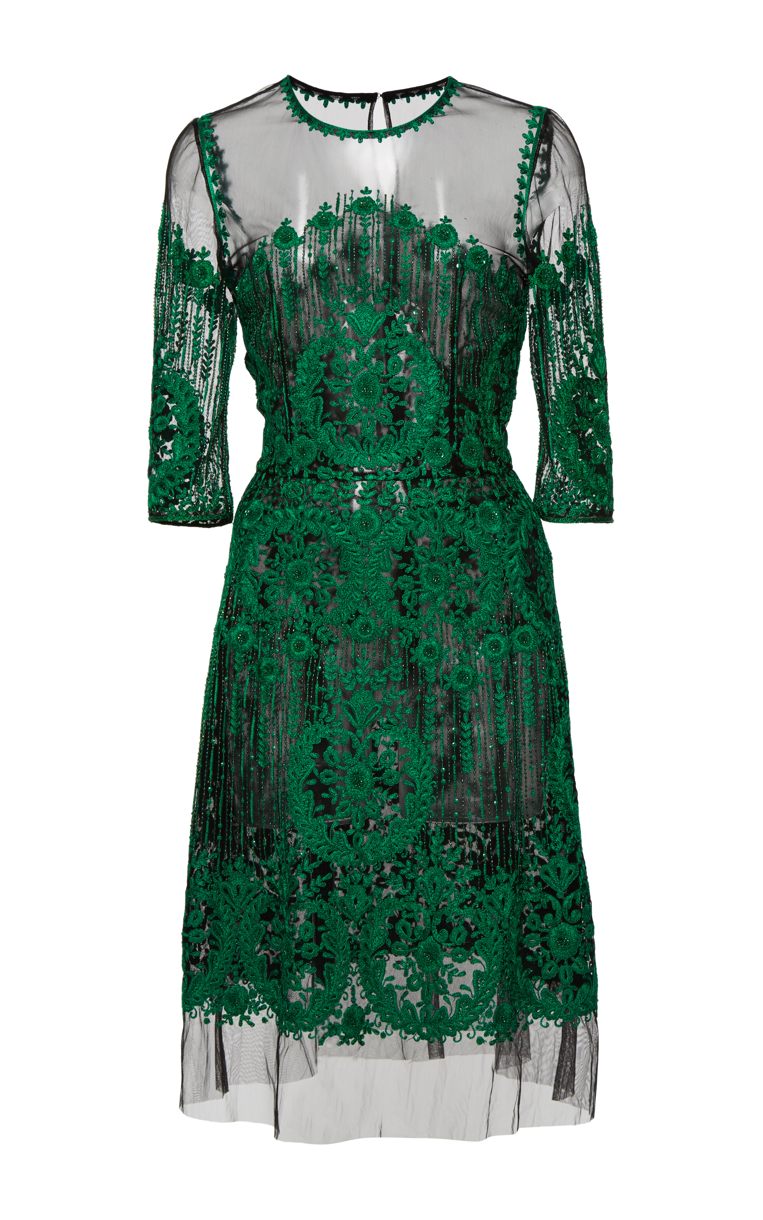 Embroidered dress by naeem khan