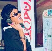 sunglasses,teyana taylor,sunnies,retro sunglasses,90s style,oval sunglasses,tiny sunglasses,glasses,skinny sunglasses,thin sunglasses,small sunglasses,celebrity style,celebrity,accessories,Accessory